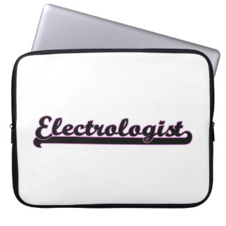 Electrologist Classic Job Design Laptop Sleeve