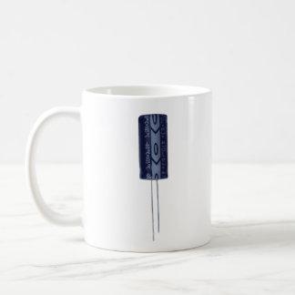 Electrolytic capacitor classic white coffee mug
