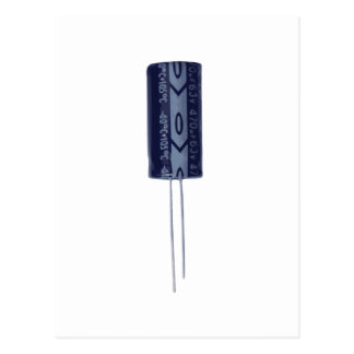 Electrolytic capacitor postcard