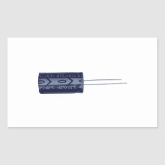 Electrolytic capacitor rectangle stickers