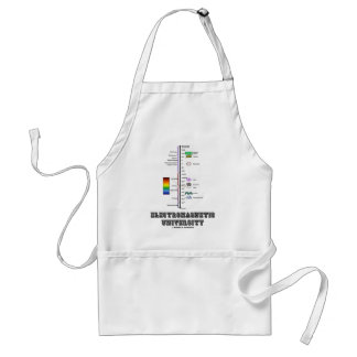 Electromagnetic University (Electromag. Spectrum) Adult Apron