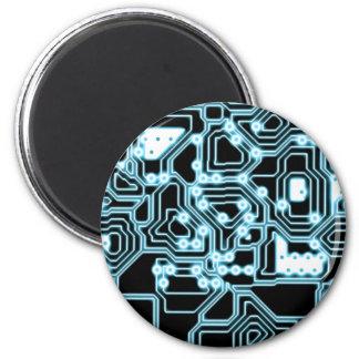 Electrón - azul/negro imán redondo 5 cm