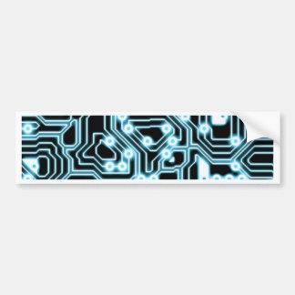 Electrón - azul/negro pegatina para auto