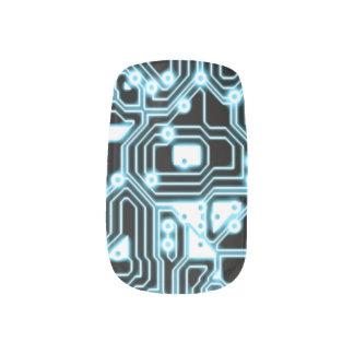 Electrón - azul/negro pegatina para manicura