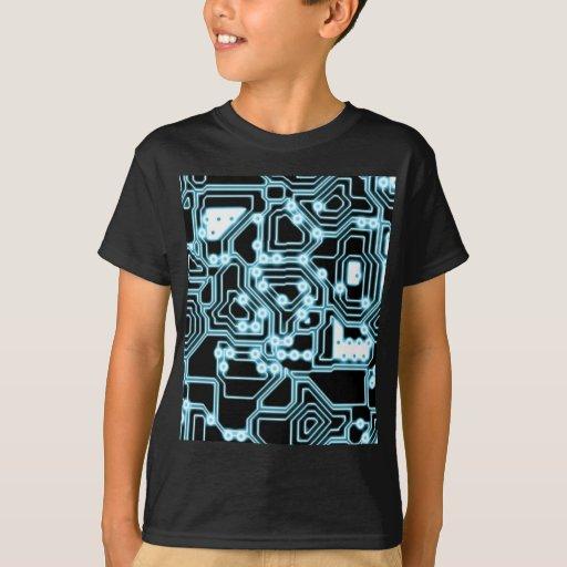 Electrón - azul/negro polera
