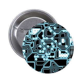 ElecTRON - Blue / Black Pinback Button