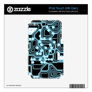 ElecTRON - Blue / Black Skin For iPod Touch 4G