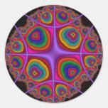 Electron Cloud Round Sticker