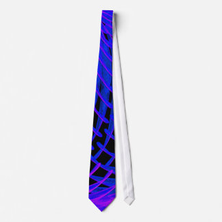 Electron Microscope Tie In Deep Blue and Purple