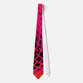 Electron Microscope Tie In Red and Pink