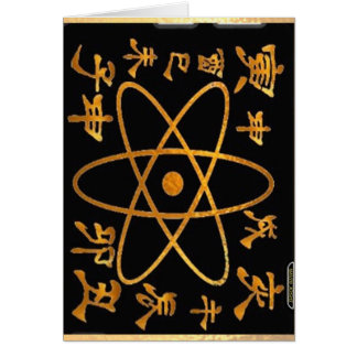 Electron Nucleas and Chinese Characters Card