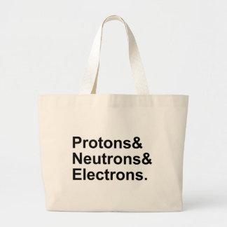 Electrones de los neutrones de los protones el   3 bolsa tela grande