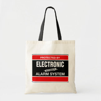 Electronic Alarm System Budget Tote Bag