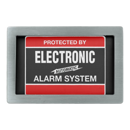 Electronic Alarm System Belt Buckle