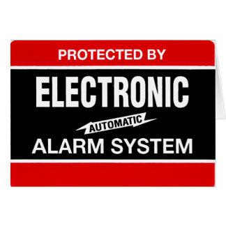 Electronic Alarm System Stationery Note Card