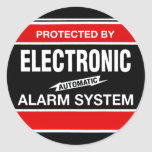 Electronic Alarm System Classic Round Sticker