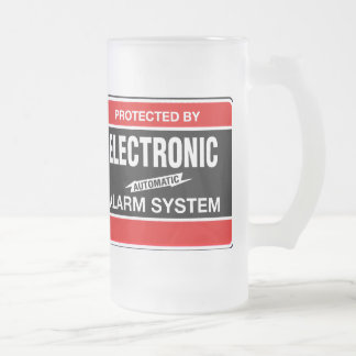 Electronic Alarm System Frosted Glass Beer Mug