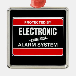 Electronic Alarm System Metal Ornament