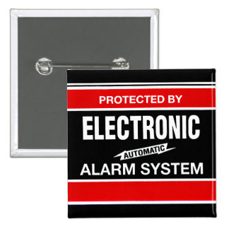 Electronic Alarm System Pinback Button