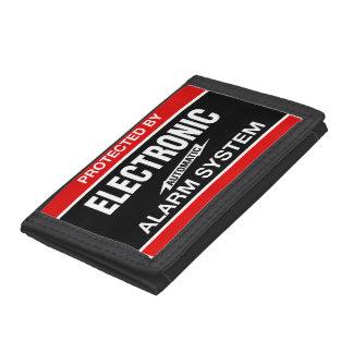 Electronic Alarm System Tri-fold Wallet