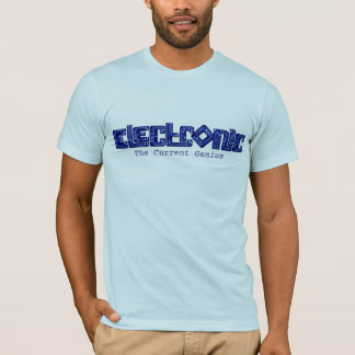 Electronic blue PCB style genius t-shirt