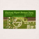 electronic, computer, repair, business, card,