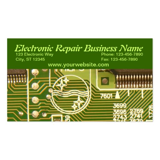 Computer repair business card templates page4 bizcardstudio electronic business card flashek Gallery