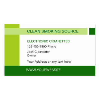 Electronic Cigarettes Business Cards & Templates