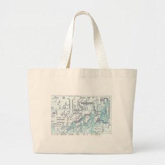 electronic circuit tote bag