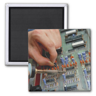 Electronic circuit board assembly refrigerator magnets
