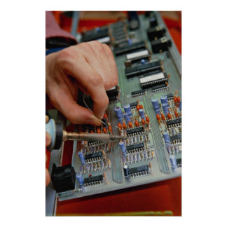 Electronic circuit board assembly poster