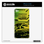 electronic circuit motif decal for iPhone 4