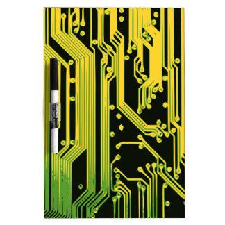 electronic circuit motif dry erase board