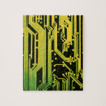 electronic circuit motif jigsaw puzzle