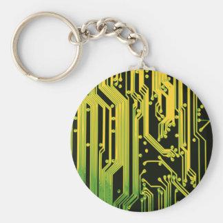 electronic circuit motif keychain