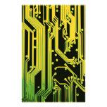 electronic circuit motif stationery