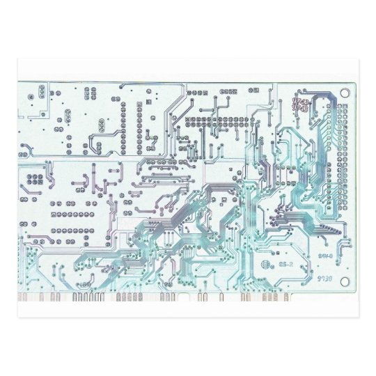 electronic circuit postcard