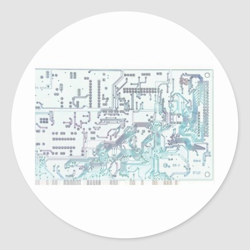 electronic circuit round sticker