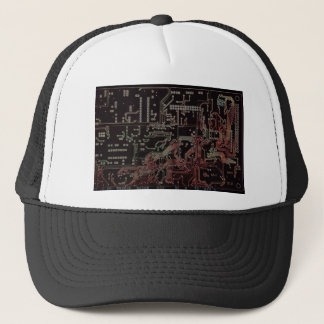 electronic circuit trucker hat