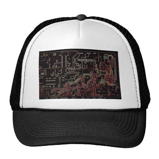 electronic circuit trucker hat