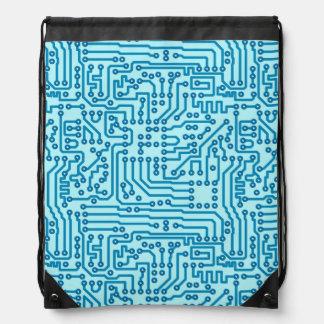 Electronic Digital Circuit Board Drawstring Bag