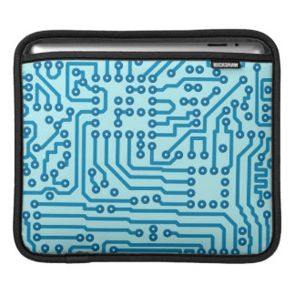 Electronic Digital Circuit Board iPad Sleeves