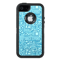Electronic Digital Circuit Board OtterBox Defender iPhone Case