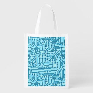 Electronic Digital Circuit Board Reusable Grocery Bag