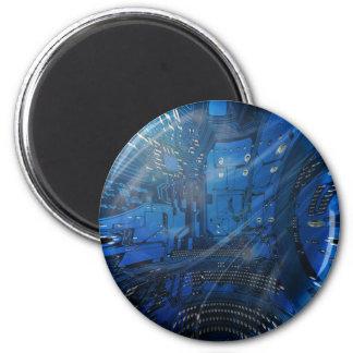 electronic globe refrigerator magnet