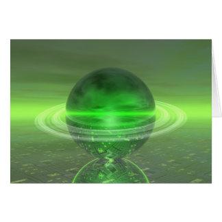 Electronic Green Saturn Card