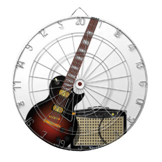 Electronic guitar and amp dartboards