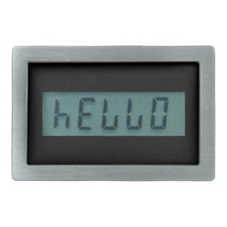 Electronic Hello Display Message Belt Buckle