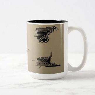 Electronic High Tech Technology Circuit Board Two-Tone Coffee Mug