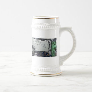 Electronic interior of a laser printer beer stein